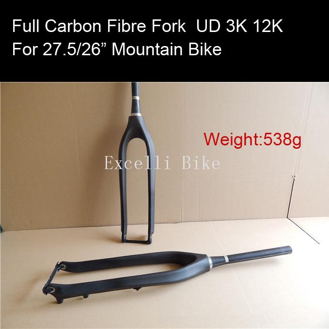 Excelli Fork Mountain Bik26 27.5 UD 3K 12K Full Carbon Fibre Forks Carbon Bicycle Forks Bicicleta Mountain Bike 27.5 Fork 100mm<br><br>Aliexpress