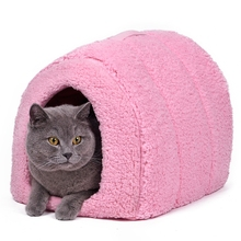 Lovely Pet House With a Bow Dog Kennel Puppy and Cat Beds Arched Shape Easy to Wash Easy to take Puppy Dog Cat Living 5 Colors(China (Mainland))