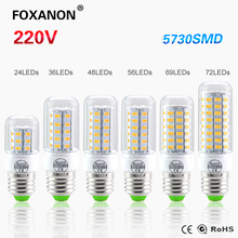5730 SMD 24 - 72LEDs CFL 10W 15W 20W E14 E27 LED lamp 230V Spotlight Candle light LEDs Bulb Chandelier For Indoor lighting(China (Mainland))