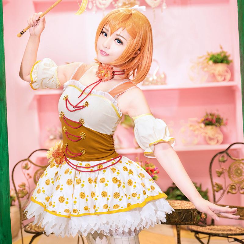 Honoka Kosaka Cosplay Lovelive / Love Live School Idol Project Orange Blume Series Uwowo Costume(China (Mainland))