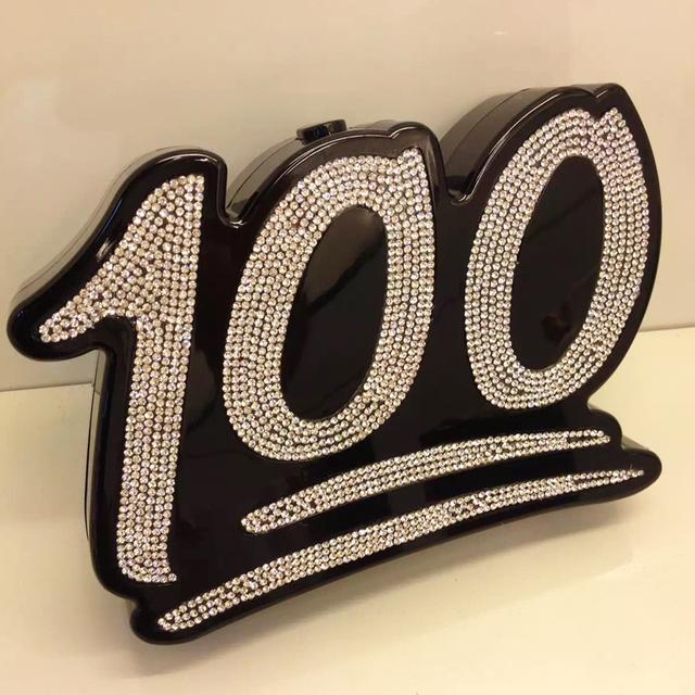 Персонализированные мода алмаз цифровой мини ну вечеринку клатч вечерняя щитка кошелек г-жа цепь сумка сумка 2 цветов