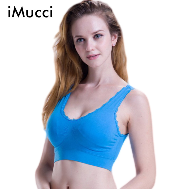 Plus Size xxxl Sports Underwear Lace Push Up Bra 2015 Fashion Gather Seamless Sleep Gym Vest Brand Manufacturers Wholesale(China (Mainland))