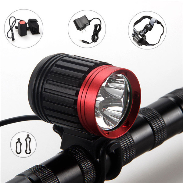 NEW 6000Lumen 3x CREE T6 LED Cycling Head Bicycle Light Bike Lamp Headlight 8000mAh(China (Mainland))