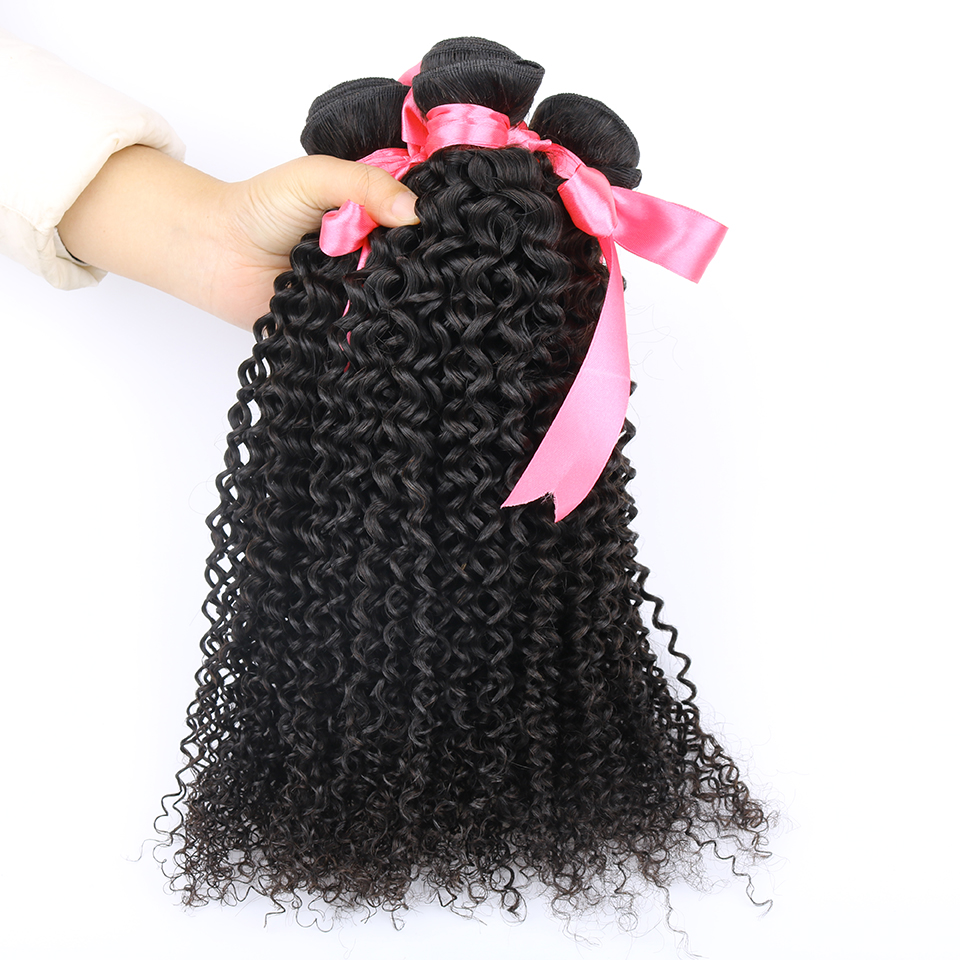 Yvonne Brazilian Kinky Curly Hair 4 Bundles Afro Kinky Curly Weave Human Hair Evet Brazilian Virgin Curly Hair Extensions