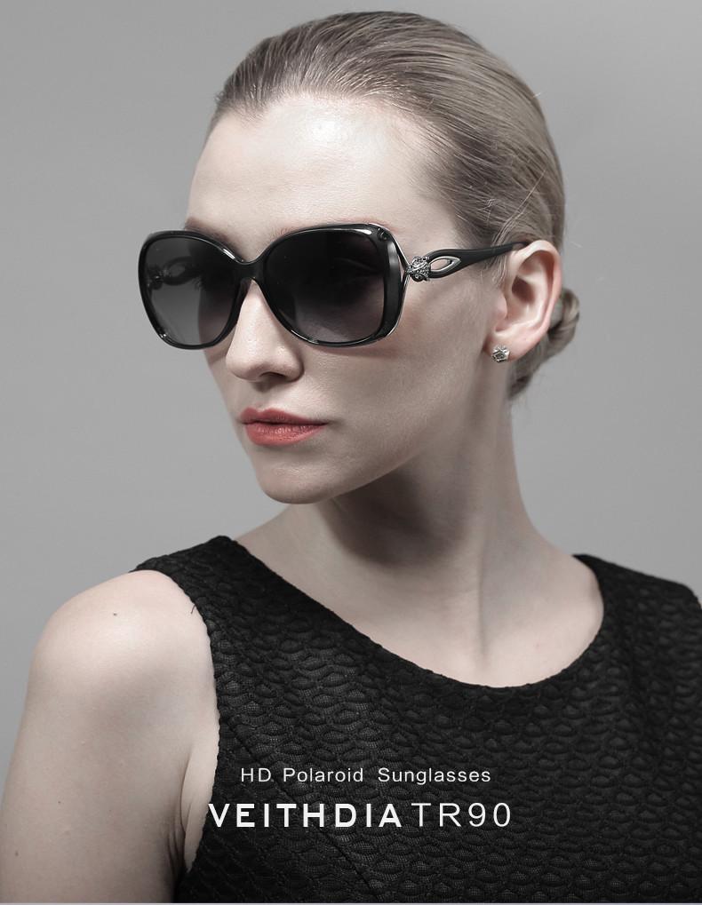 Veithdia ретро TR90 вождения солнцезащитные очки поляризовыванная роскошные дамы женщин конструктора очки очки óculos de sol feМиниno 7022