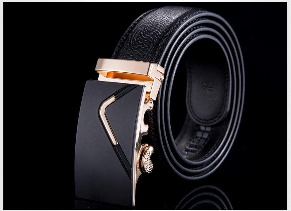 [MILUOTA] 2015 New men belt brand luxury ceinture designer belts men high quality genuine leather belt automatic buckle WN003