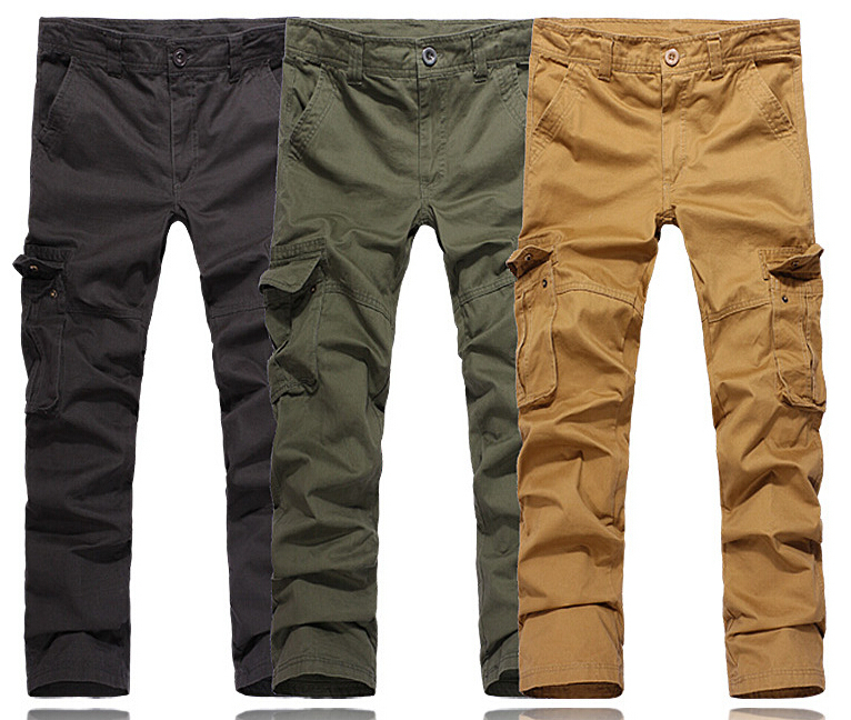 Slim Khaki Cargo Pants For Men Slim Fit Men Cargo Pants