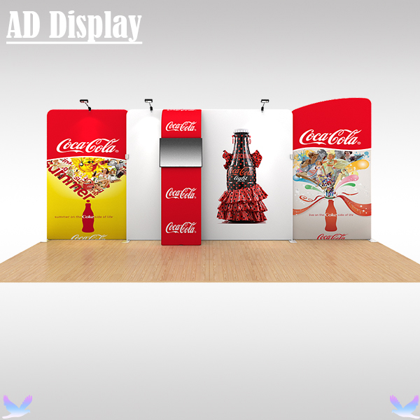 20ft Exhibition Booth High Quality Tension Fabric Backdrop Wall With Single Side Banner Printing,Trade Show Advertising Display(China (Mainland))