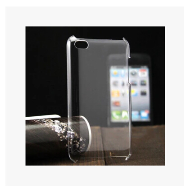 Ultra-thin DIY Plastic Case hard Transparent back Case Cover For iPod Touch 4(China (Mainland))
