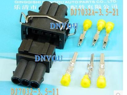 10pcs(male + female) 3P connector / 3-hole waterproof connector / automotive sensor / connector /DJ7032A-3.5(China (Mainland))