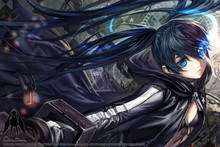 Black Rock Shooter 12—2016 Hot sale Japanese Anime Home Decor Horizontal Version Scroll Paintings Art Canvas Wall Picture