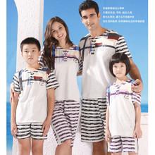 Lounge  lovers parent-child set 100% cotton knitted sleepwear(China (Mainland))