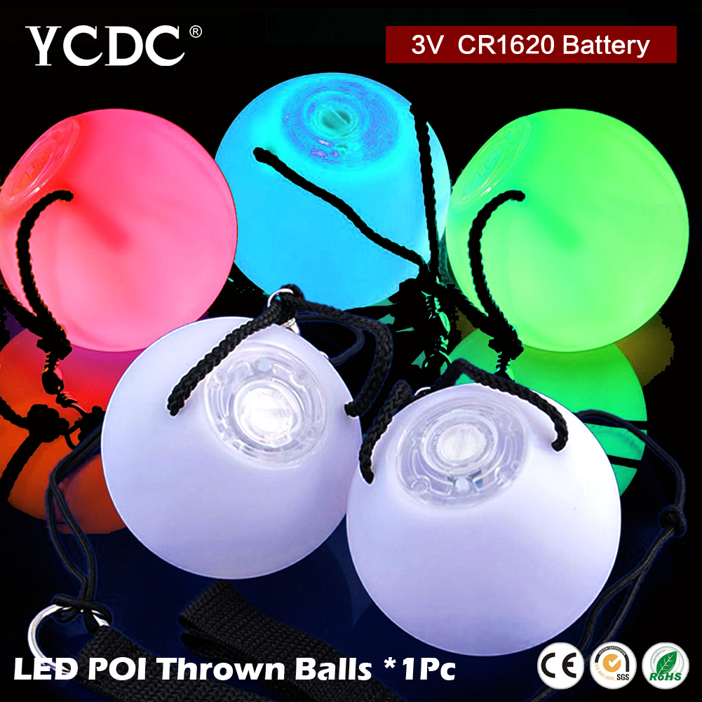 Stage Performance 1 Piece LED POI Thrown Balls Colorful RGB LED Bulb for Belly Dance Level Hand Props Belly Dance Accessories(China (Mainland))
