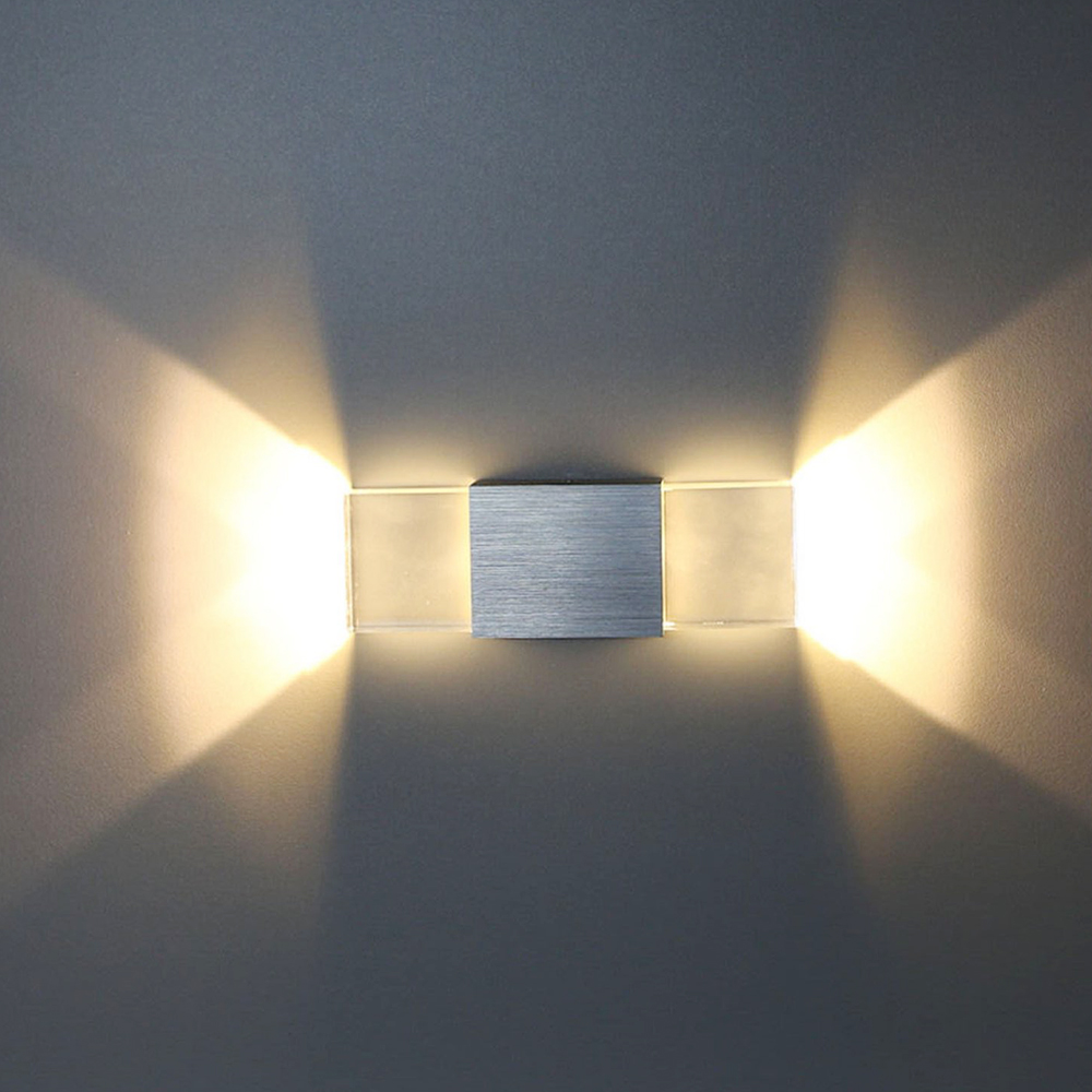 Wall Lights In Hallway : Tanbaby Acrylic led wall lamp 2W Up and down wall Sconce light indoor Hallway Walkway Bedroom ...