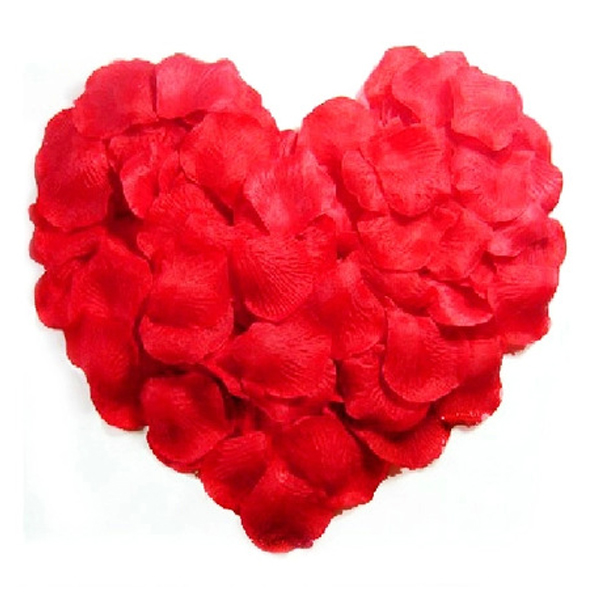 1000pcs Lifelike Artificial Silk Red Rose Petals Decorations Wedding Party Decorations RD Valentine petale de rose(China (Mainland))