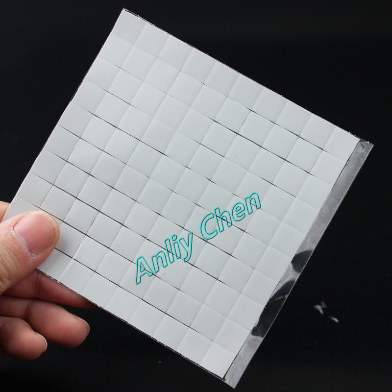 500 Pieces LOT White GDT 10x10mm Xbox PS PC VGA Chipset Heatsink Radiator Silicone Conduction Thermal Pad(China (Mainland))