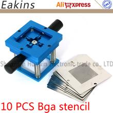 Buy Blue BGA reballing station hand shank BGA tin fixture BGA reballing kit+10pcs 90*90mm Universal Bga Stencil for $33.99 in AliExpress store