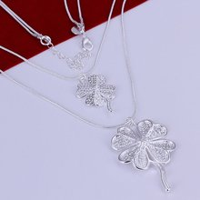 N218 двухместный четыре листа клевера цена от производителя бесплатная доставка посеребренные ожерелье мода кулон цепи(China (Mainland))