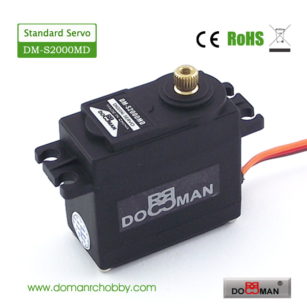 1pcs/lot DM-S2000MD DOMAN RC hobby metal gear 20kg digital rc servo(China (Mainland))