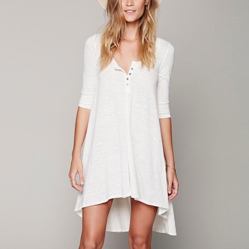 Buy hot sale 2015 women loose asymmetric for Long t shirt trend
