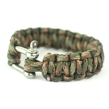 Field tactical bracelet outdoor rope escape rope core risers steel buckle lifebelts bracelet hand-rope
