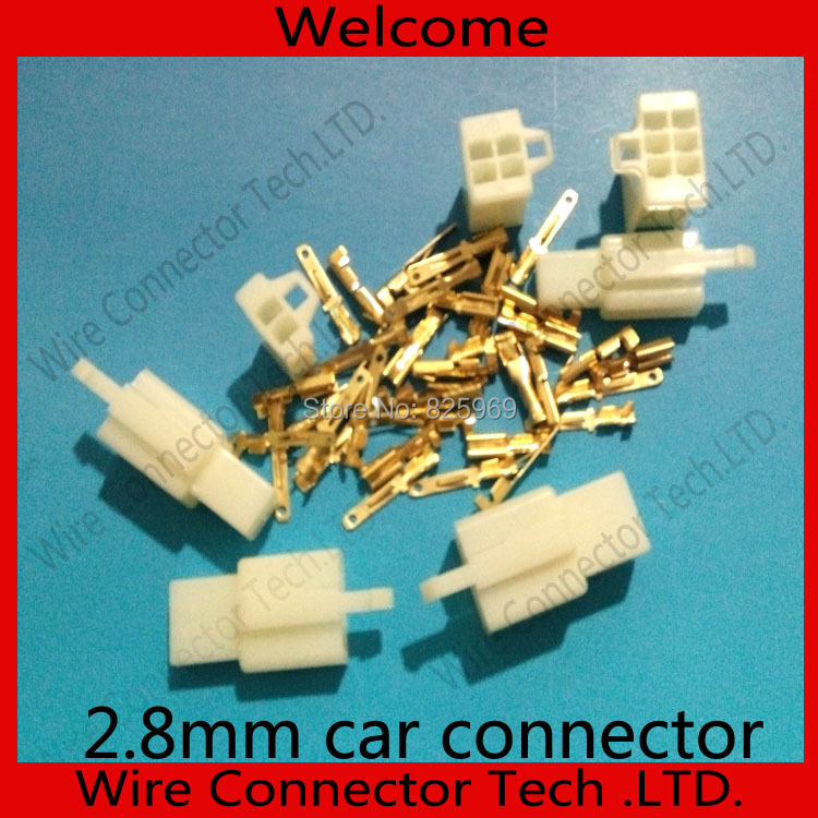 60sets2.8mm 2&amp;4&amp;6 Way/pin Electrical Connector Kits(20sets*2/4/6 Pin) for Motorcycle Car ect. Free shipping<br><br>Aliexpress