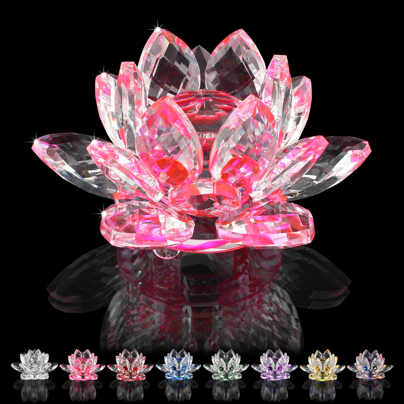 85MM jewelry finding crystal lotus ornaments flower crafts glass K9 furniture accessories party gift wedding decorations(China (Mainland))