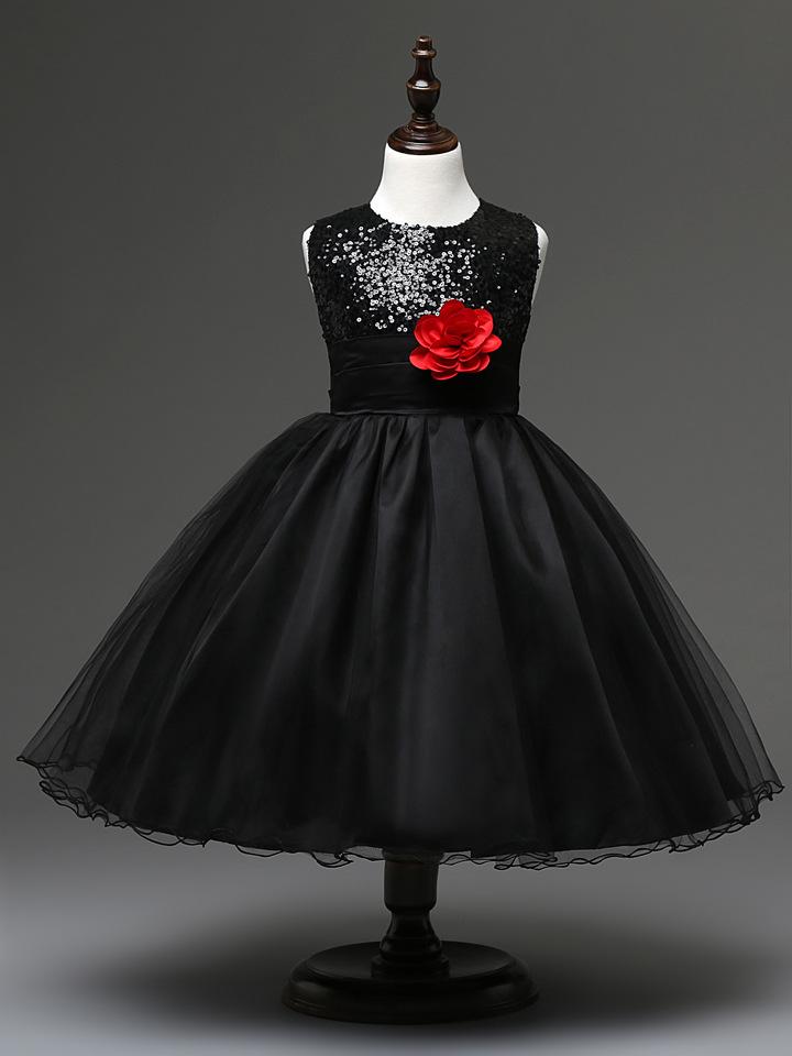 Cheap Black And White Flower Girl Dresses 120