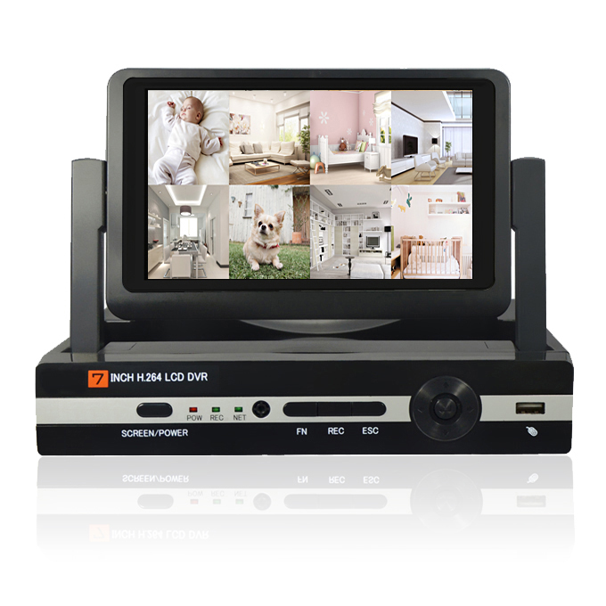AHD-6404HM-S1/AHD-6804HM-S1 Built-in 7inch LCD up to 4/8 cameras with HD Display  Integration Video Recorder<br><br>Aliexpress