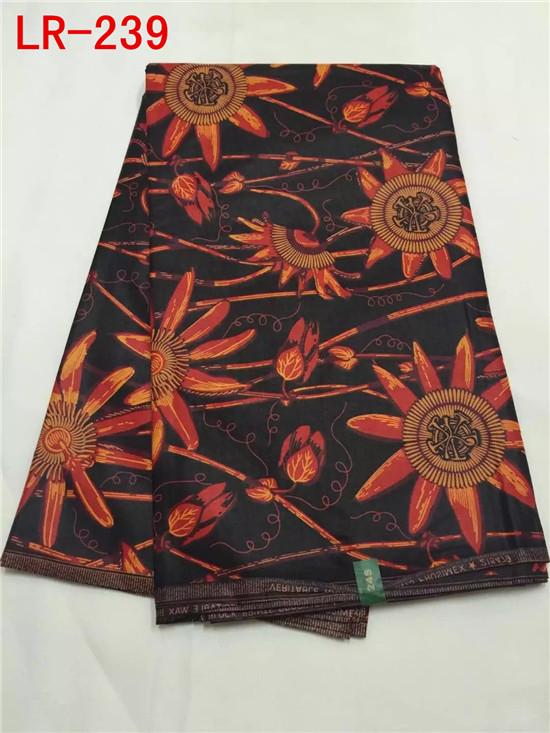 Sun flower pattern guaranteed real wax block print high quality for african wax cloth (6yard/lot)LR-239(China (Mainland))