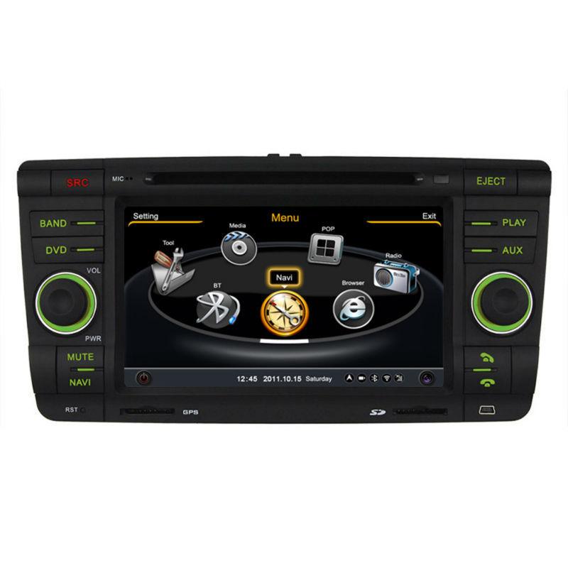 7'' Car DVD Player In-Dash System Car Stereo GPS Navigator For Skoda Octavia & Fabia Multimedia Sytem(China (Mainland))