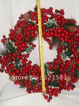 2012 new style 35cm Christmas Natrual Wreath Christmas Decoration wholesale & retail