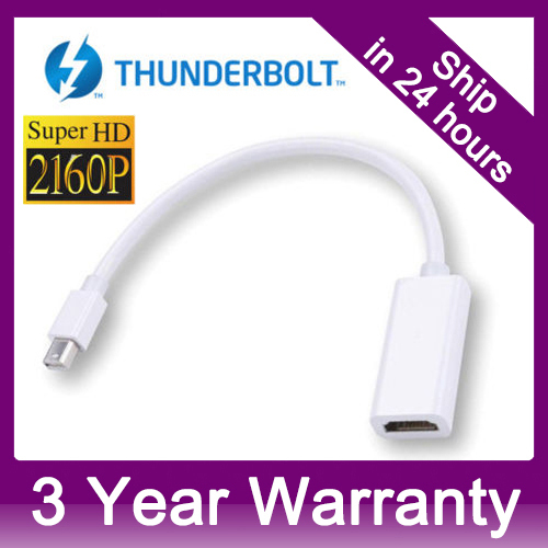 4K x 2K Thunderbolt Mini Displayport DP to HDMI High Resolution 4K Ultra HDTV Adapter For Apple MacBook Pro Air iMAC(China (Mainland))
