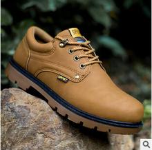 2015 autumn Winter Men s ankle boots martin boots desert outdoor Men Boots male climbing shoes