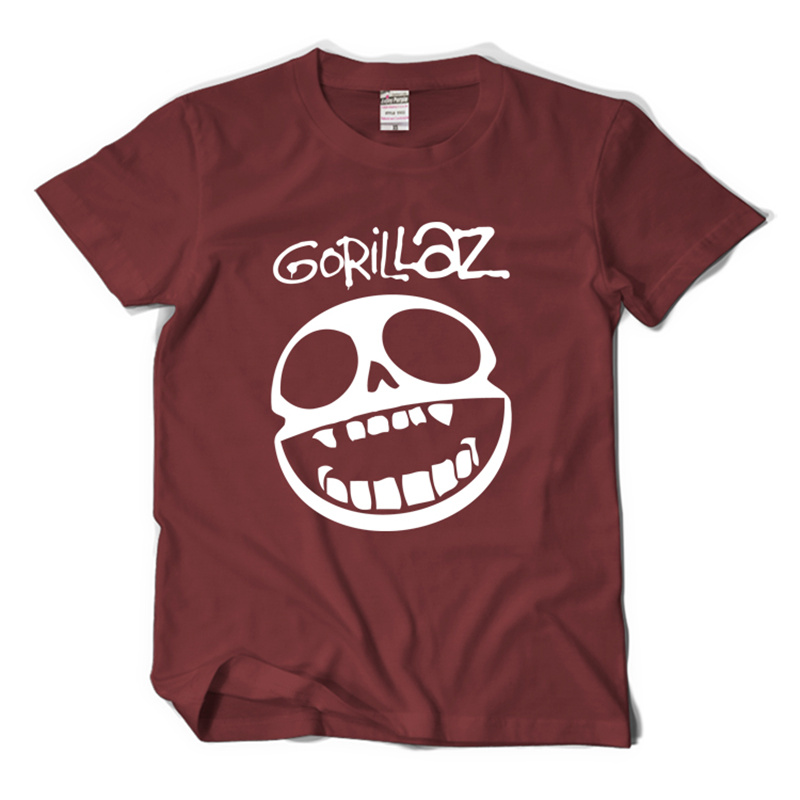 2017 new virtual band Gorillaz street fighter rock short sleeve t-shirt men and women loose round neck t shirt(China (Mainland))