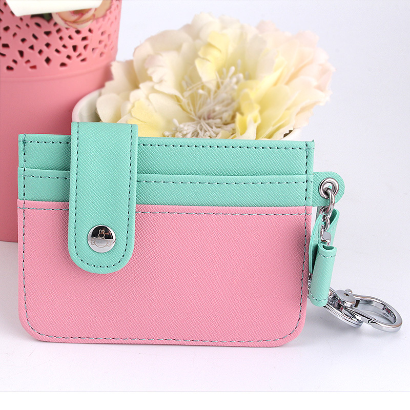 Splice contrast hit color mosaic porte carte women credit card holder ID card bag card case Pack wallet CP001(China (Mainland))