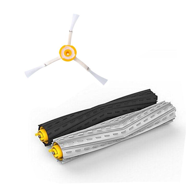 3Pcs Tangle-Free Debris Extractor Brush Replacement Kit iRobot Roomba 800 900 Series 870 880 980 Vacuum Robots Accessory Parts(China (Mainland))