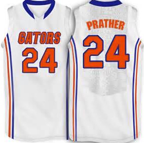 #24 Casey Prather Florida Gators college Basketball Jersey White,blue,custom any sizes,all name and numbers are stitched on(China (Mainland))