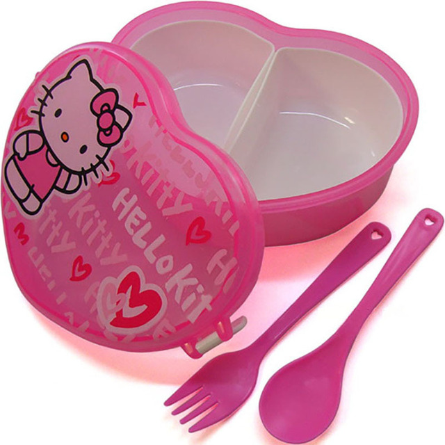 Heart-Shaped Hello Kitty Lunch Box