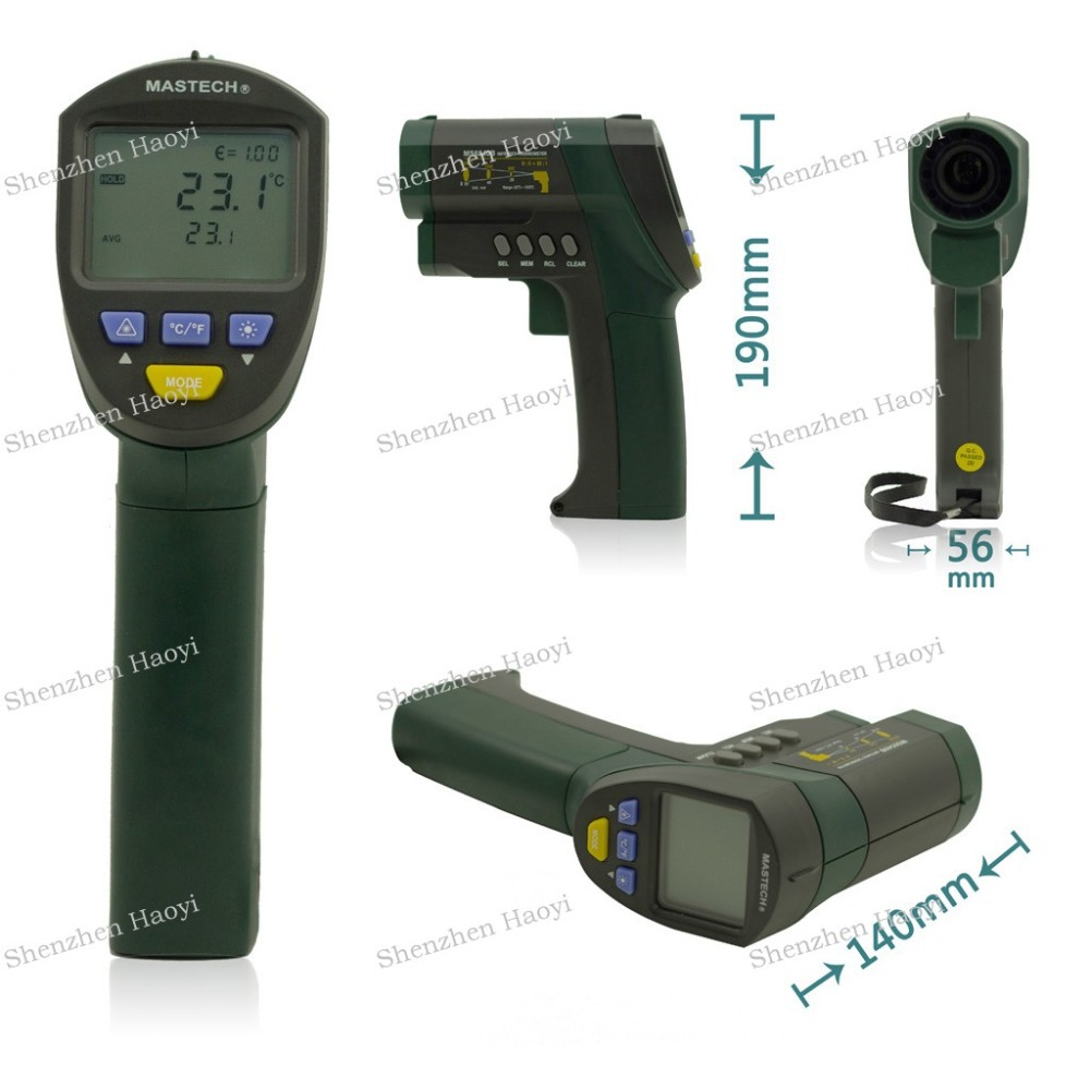MASTECH MS6540B Non-contact Infrared Thermometer -32C~1050C IR Temperature Meter Tester 30:1 (D: S)(China (Mainland))