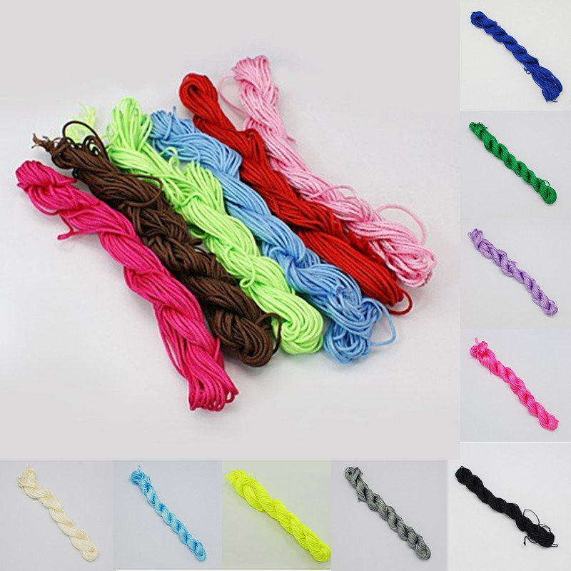 10M/Roll 2mm MIX Nylon Thread Nylon Cord for Custom Woven Bracelets Braided String Jewelry diy Making rattail cord Free shipping(China (Mainland))