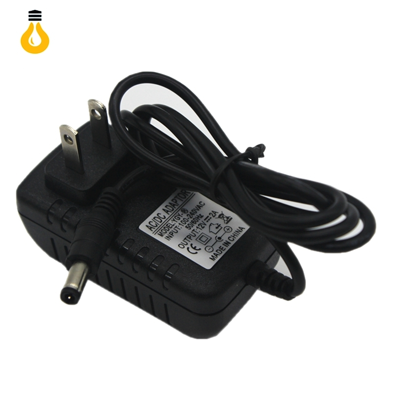 Hot AC100V-240V to DC 12V 2A EU/AU/UK/US Plug Power Adapter Wall Charger DC 5.5mm x 2.1mm 50/60HZ for CCTV Camera, free shipping(China (Mainland))