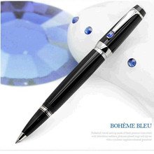 Luxury Pens color crystal Mon With Gem clip stationery blanck school&office supplies metal roller ball pen MB writing pen(China (Mainland))