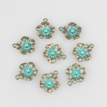Buy 2016 New 20pcs/lot 17MM Round Retro Verdigris Patina Plated Zinc Alloy Green Flowers Charms Pendants DIY Jewelry Accessories for $1.99 in AliExpress store