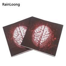 rainloong brains paper napkins print for halloween decoration punk napkin servilleta 3333cm 20pcspack