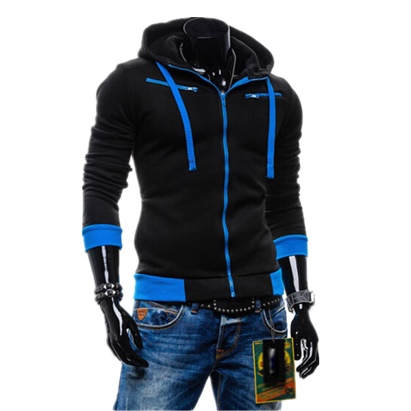 2015 Hot Sale Mens Hoodies And Sweatshirts Autumn Winter Lovers Casual Sport Jacket Men's Coat 5 Colors(China (Mainland))