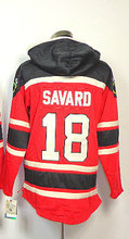 Old Time Hockey #18 Serge Savard Red With A Patch Sawyer Hoody Sweatshirt,Lace Jerseys Fleece Hoodies Jerseys Mens Size 48-56