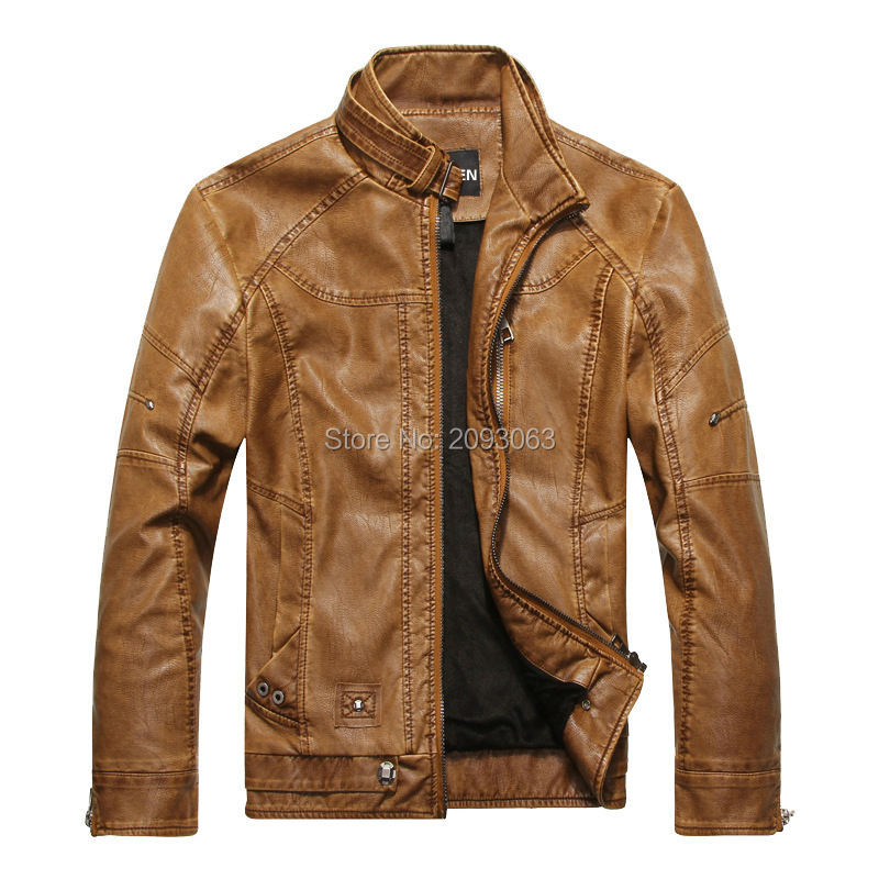 New Brand Motorcycle Leather Jacket Winter Men Coat Men Fashion High Quality PU Leather Outwear Male Casual Jacket 3XL Q-GZBM-01(China (Mainland))