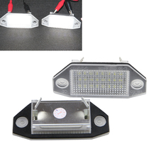 Error Free 24 LED Number License Plate Light Interior Ford Mondeo MKIII MK3 2000-2007 4D/5D Auto White 7000K - NEWM Autolight Store store