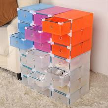 NEW5PCS Eco-Friendly Shoe Storage Box Case Transparent Plastic Storage Box Rectangle PP Shoe Organizer Thickened drawer Shoe Box(China (Mainland))